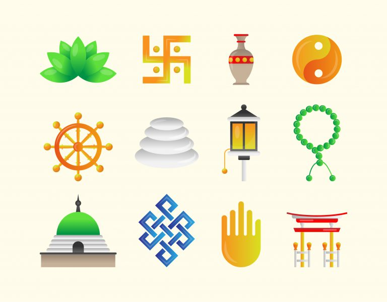 Buddhist Symbols Free Vector Download