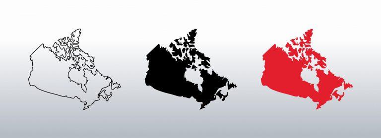 Canada Map Free Vector Art