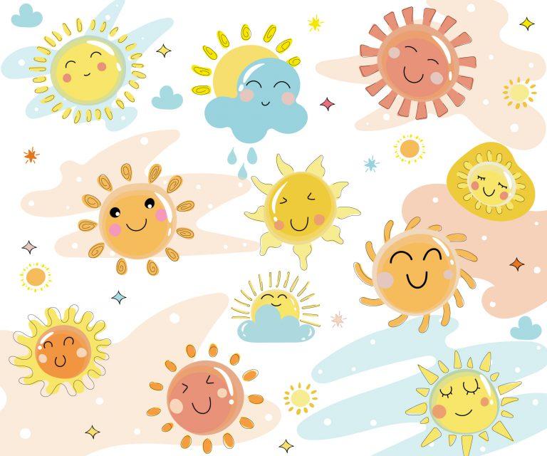 Cute Sun Vector Download
