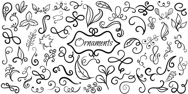 Decorative Ornaments Doodle Banner