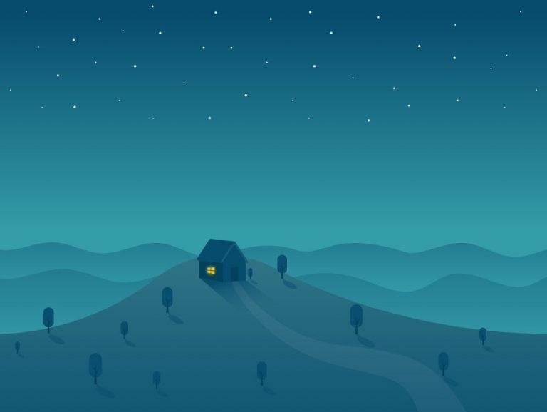 Dreamland Landscape Illustration