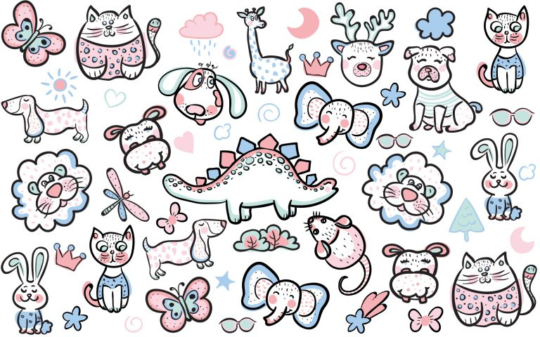 Doodle Animal Free Vector Art