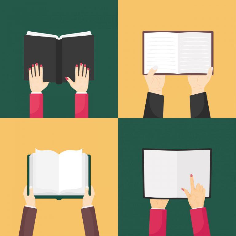 Set of Books Flat Icons