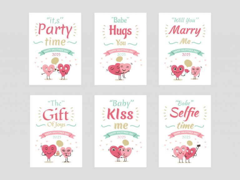 Heart Greeting Cards Template