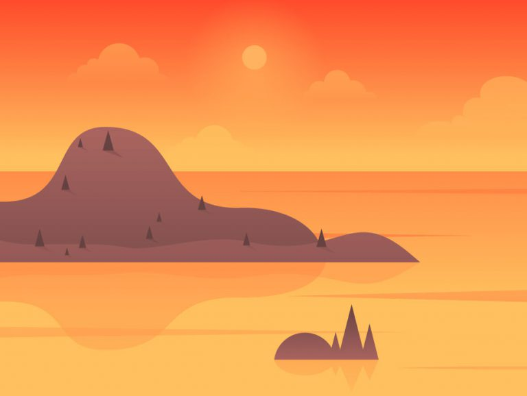 Island Illustration Design
