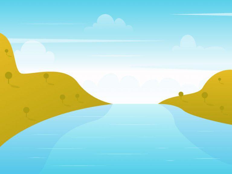 Lake Vector Illustration