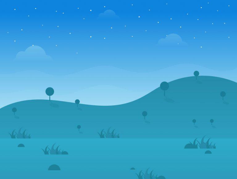 Dreamy Landscape Vector
