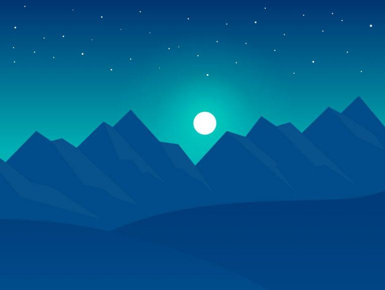 Night Hills Landscape