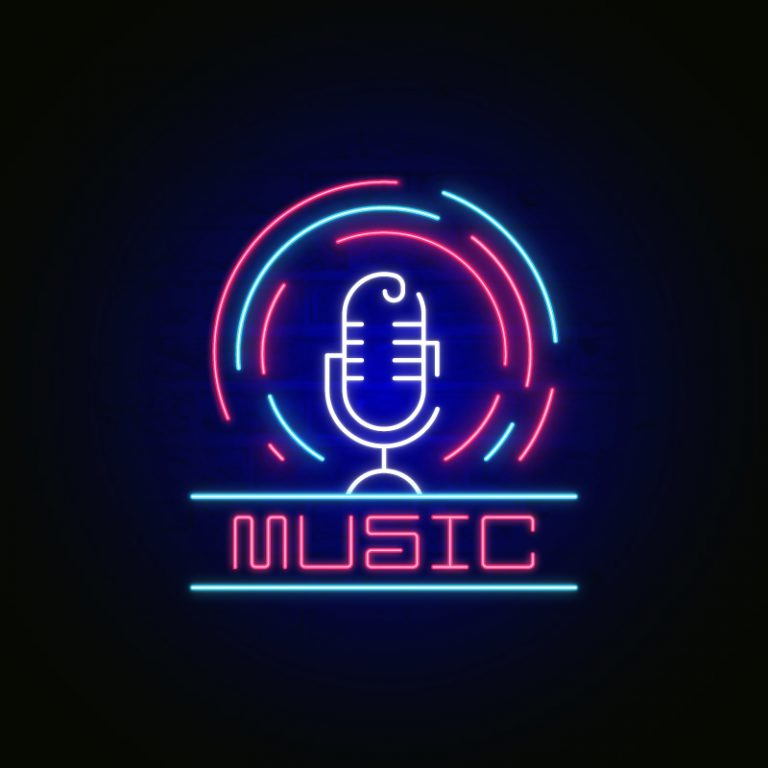 Live Microphone Neon Sign