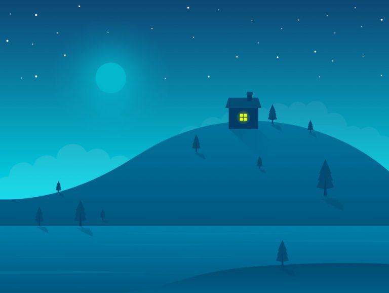 Night Illustration Design
