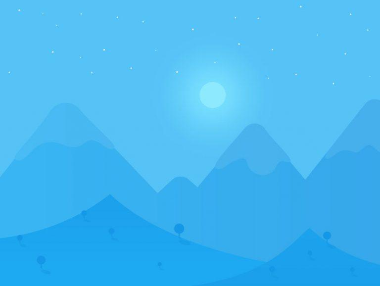 Free Night Landscape Vector