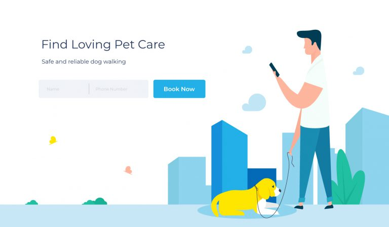 Pet Care Header Illustration 1