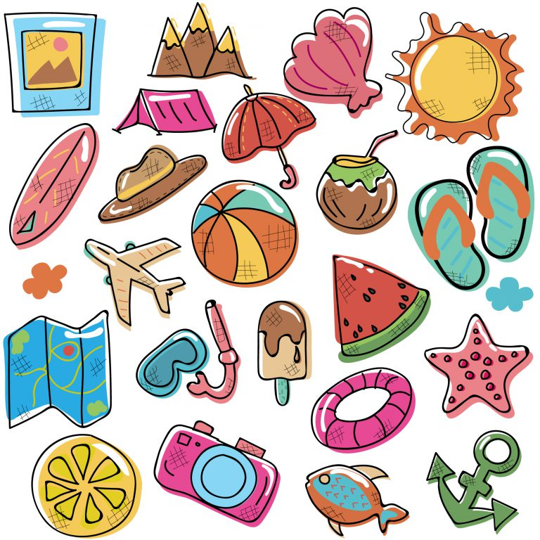 Doodle Summer Icons