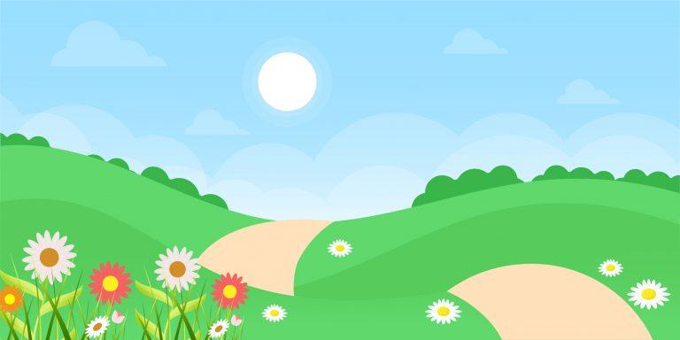 Summer Landscape Free Background