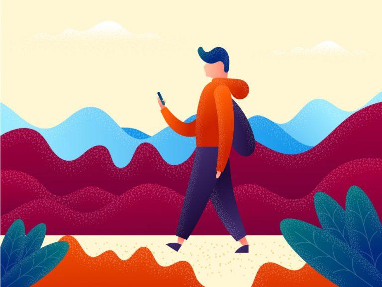 Tourist Vector Illustration