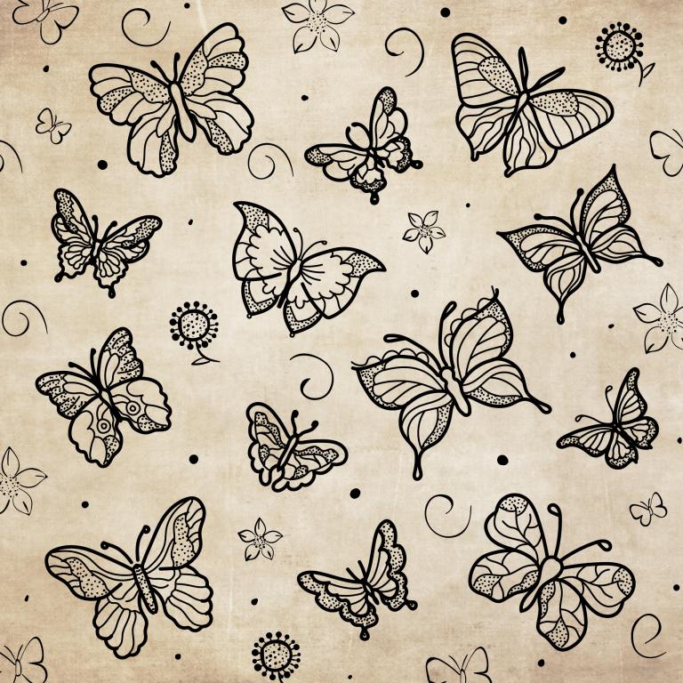 Vintage Butterfly Illustration Free Download