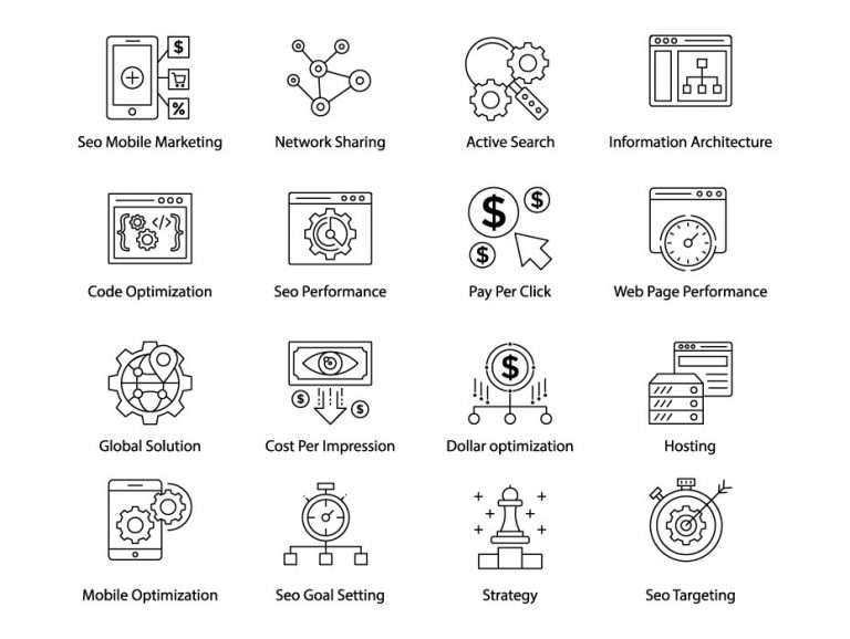 Web and Seo Icons