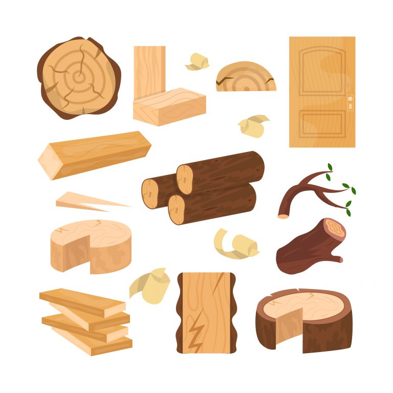 Wood Industry Raw Material Icons